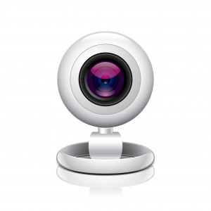 White webcam vector illustration